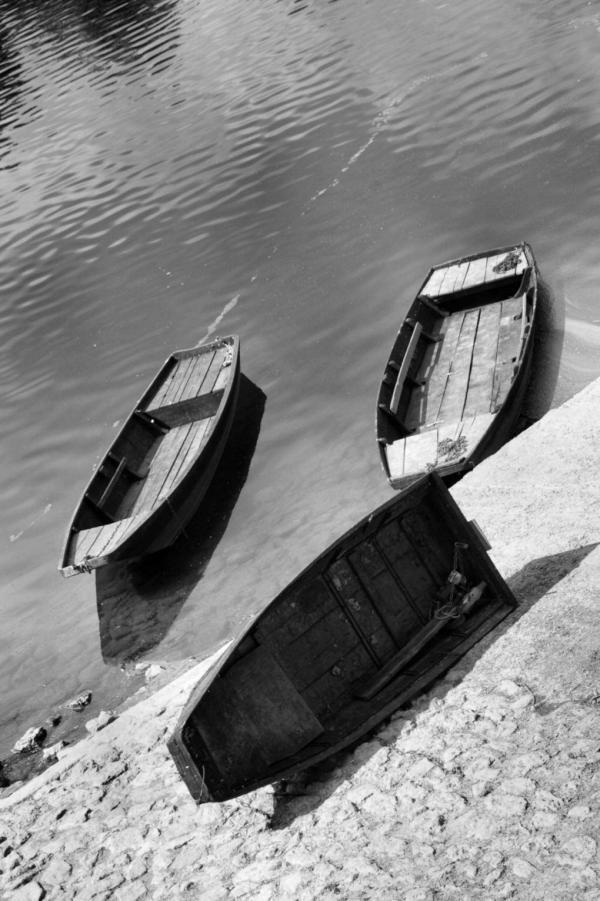 Barques sur la Vienne à Chinon